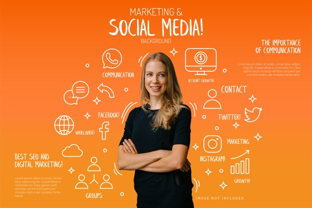 marketing-social-media-background-with-funny-elements_1361-1264